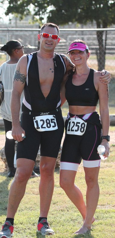 with my brother after his first triathlon