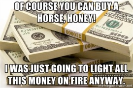 Image result for horse rich meme