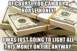Image result for horse rich meme