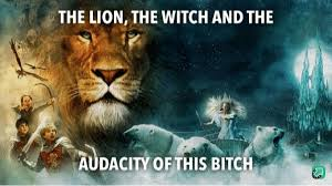 The Lion, the Witch, and the Audacity of this B*tch in HD :  MemeTemplatesOfficial